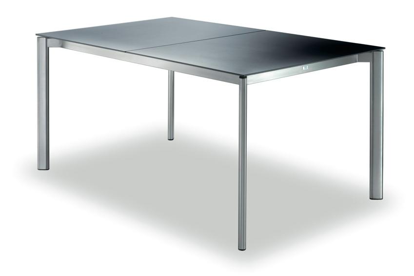 Ausziehtisch Gartentisch FISCHER «Swing» Tisch 150×90 Keramik