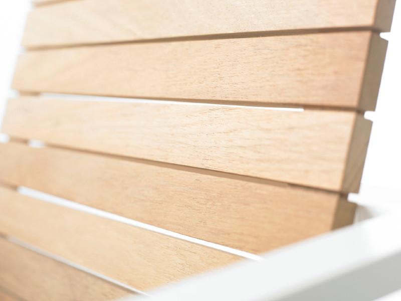 Gartenmobel Weiss Kunststoff : Gartenstuhl SOLPURI Allure Teak Stapelsessel
