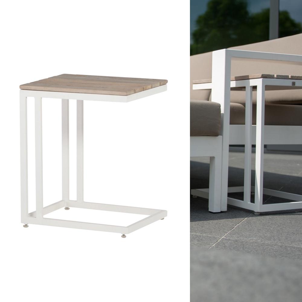 4seasons cancun wei 45x35 cm beistelltisch tisch lounge aluminiumtisch gartenm bel onlineshop. Black Bedroom Furniture Sets. Home Design Ideas