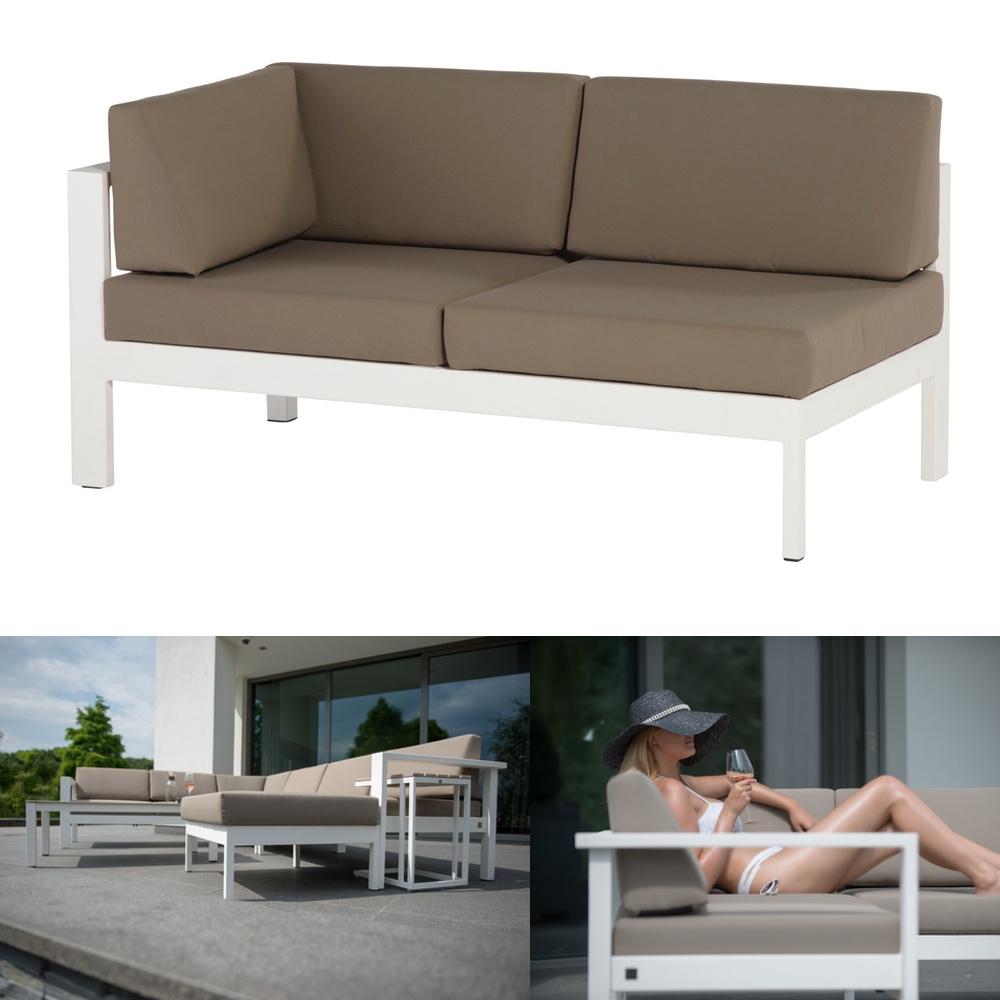 gartenbank 4seasons cosmo wei 2er sofa armlehne rechts. Black Bedroom Furniture Sets. Home Design Ideas