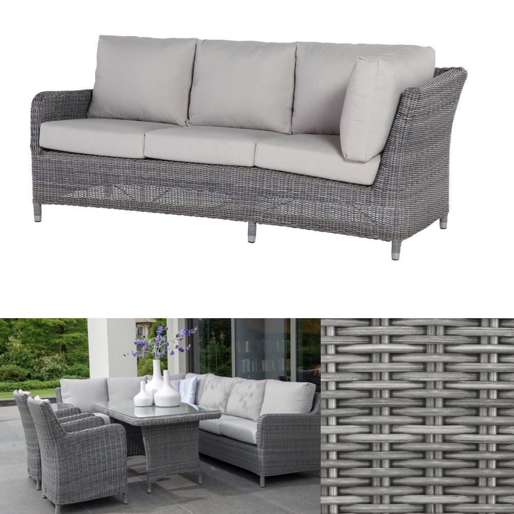 Gartenbank «Indigo ROCK» 3 Sitzer Sofa Geflecht Premium inkl ...