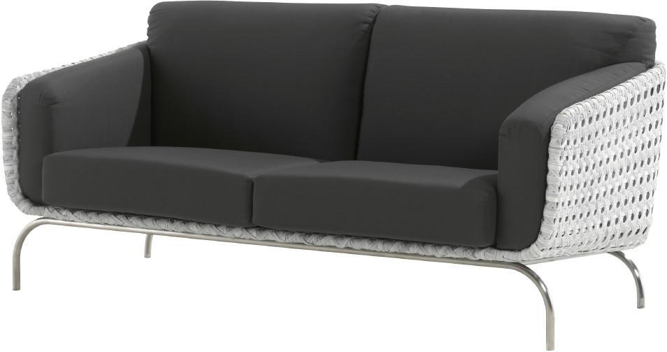 luxus polyrattan geflecht outdoor lounge sofa luton 2er sofa vom gartenm bel fachh ndler. Black Bedroom Furniture Sets. Home Design Ideas