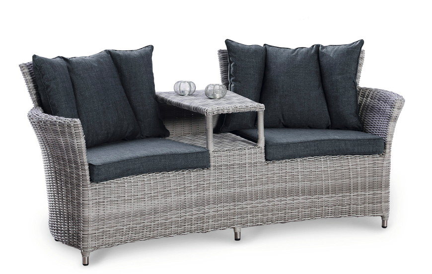 gartenbank best barcelona lounge sofa polyrattan 2er. Black Bedroom Furniture Sets. Home Design Ideas