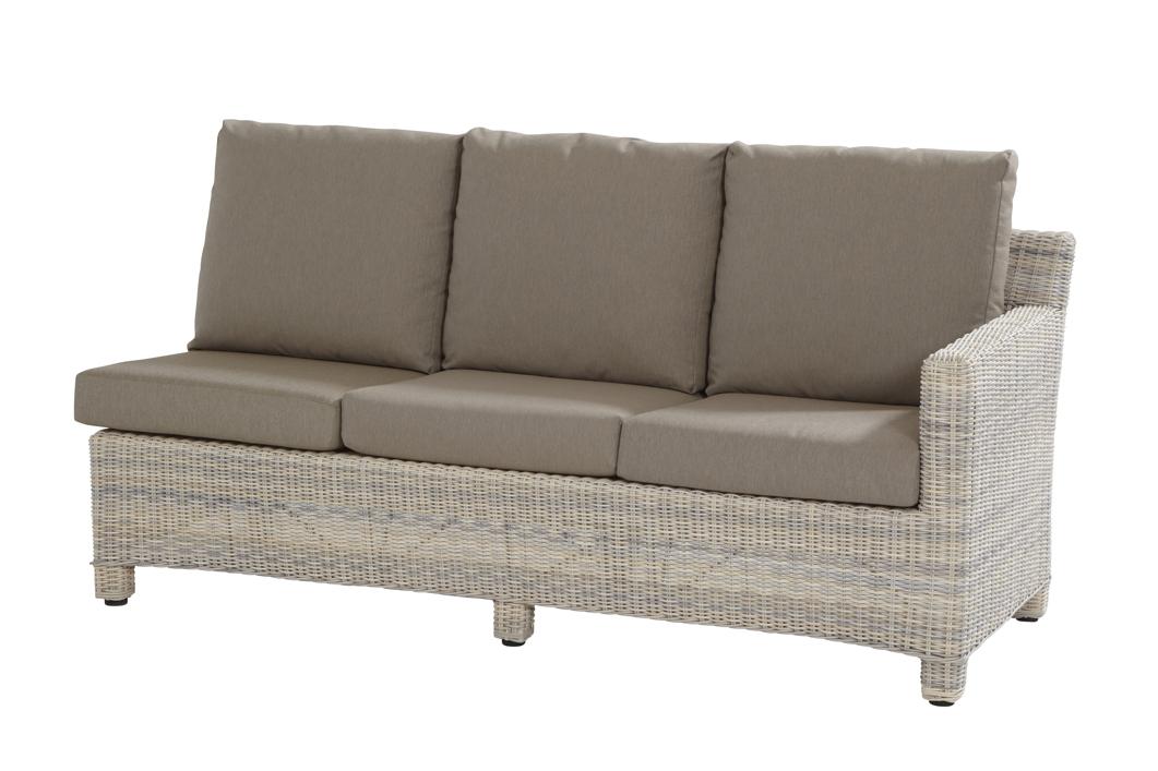 lounge gartencouch rio cosy 3er sofa eckmodul elzas polyrattan geflecht hell beige. Black Bedroom Furniture Sets. Home Design Ideas