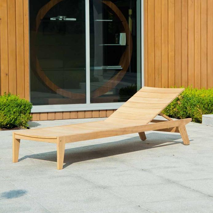 GartenmObel Holz Haltbarkeit ~   «Roble Tivoli» Liege ohne Armlehne, Holz  Gartenmöbel Onlineshop