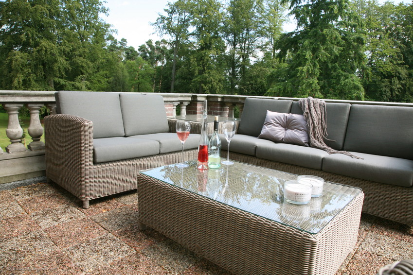 Premium-Polyrattan-Gartenbank 4Seasons «Lodge 2,5er Lounge-Sofa ...