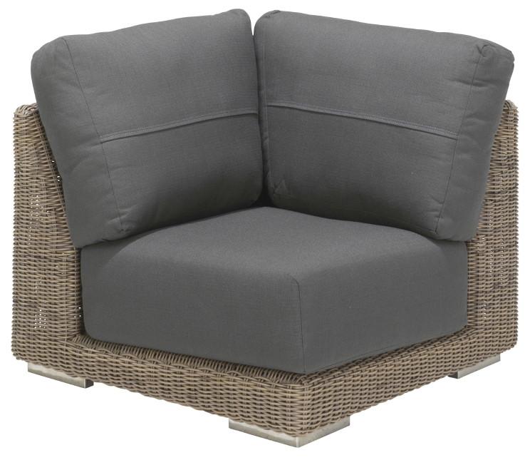 polyrattan sofagarnitur 4seasons kingston eckelement premium inkl kissen gartenm bel onlineshop. Black Bedroom Furniture Sets. Home Design Ideas