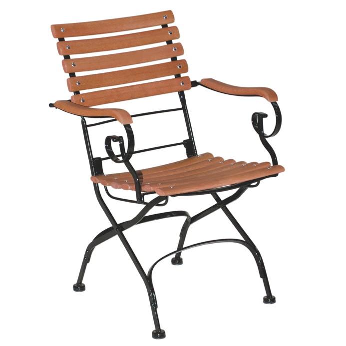 Wunderschönen Gartenstuhl Holz Metall | Gartenbänke Ideen