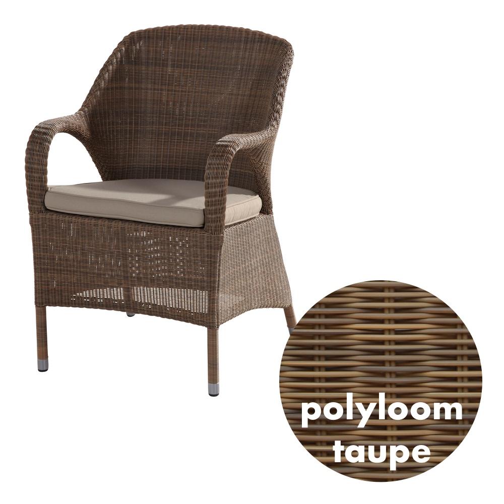 Gartenstuhl 4Seasons «Sussex Polyloom Taupe» Sessel Rattan mit ...