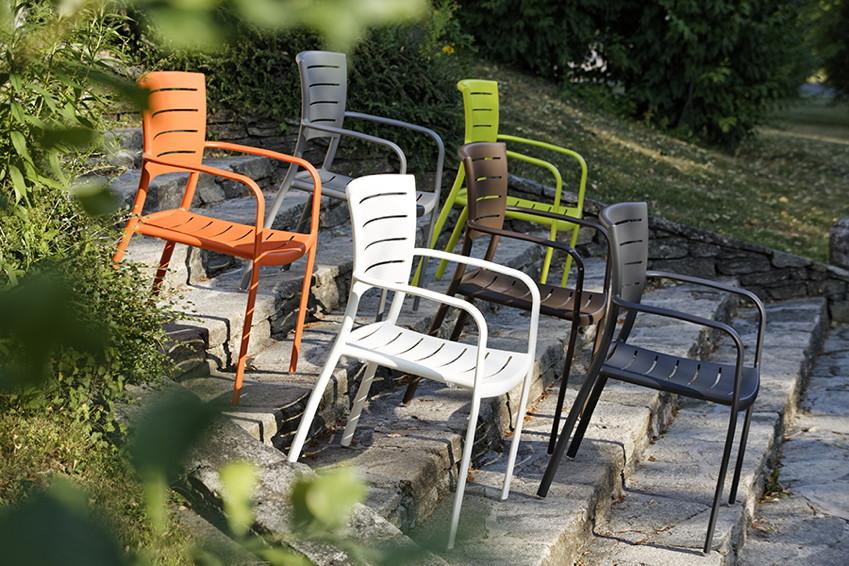 Gartenmobel Rattan Verstellbare Lehne :  » Aluminium pulverbeschichtet Stapelsessel  GartenmöbelOnlineshop