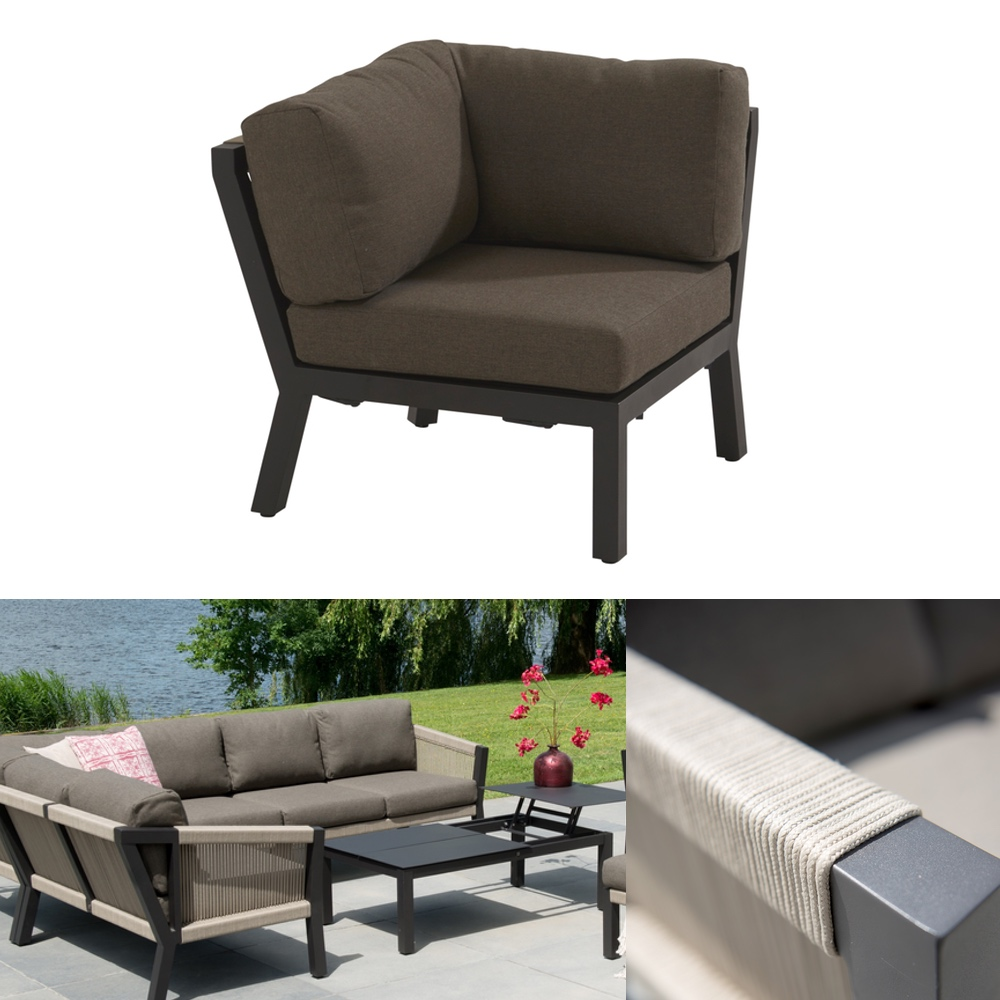 gartenstuhl 4seasons oslo loungeeckelement geflechtlounge mit kissen vom gartenm bel. Black Bedroom Furniture Sets. Home Design Ideas