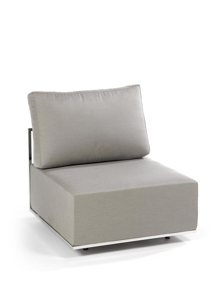 gartenstuhl fischer suite lounge mittelelement canvas. Black Bedroom Furniture Sets. Home Design Ideas