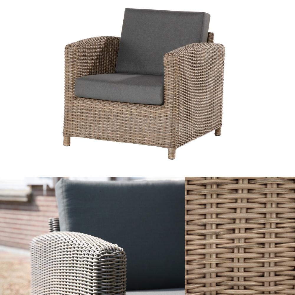 premium polyrattan gartensessel 4seasons lodge loungesessel mit sitzkissen vom gartenm bel. Black Bedroom Furniture Sets. Home Design Ideas