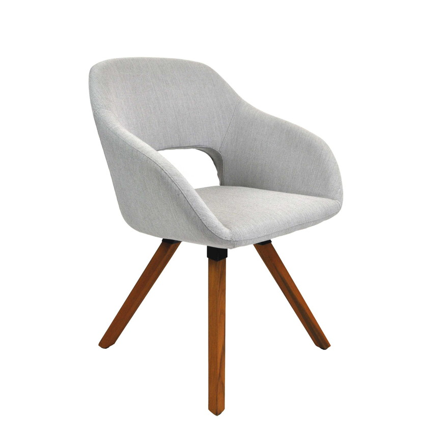 gartenstuhl niehoff nizza teak stativ polster grau vom gartenm bel fachh ndler. Black Bedroom Furniture Sets. Home Design Ideas