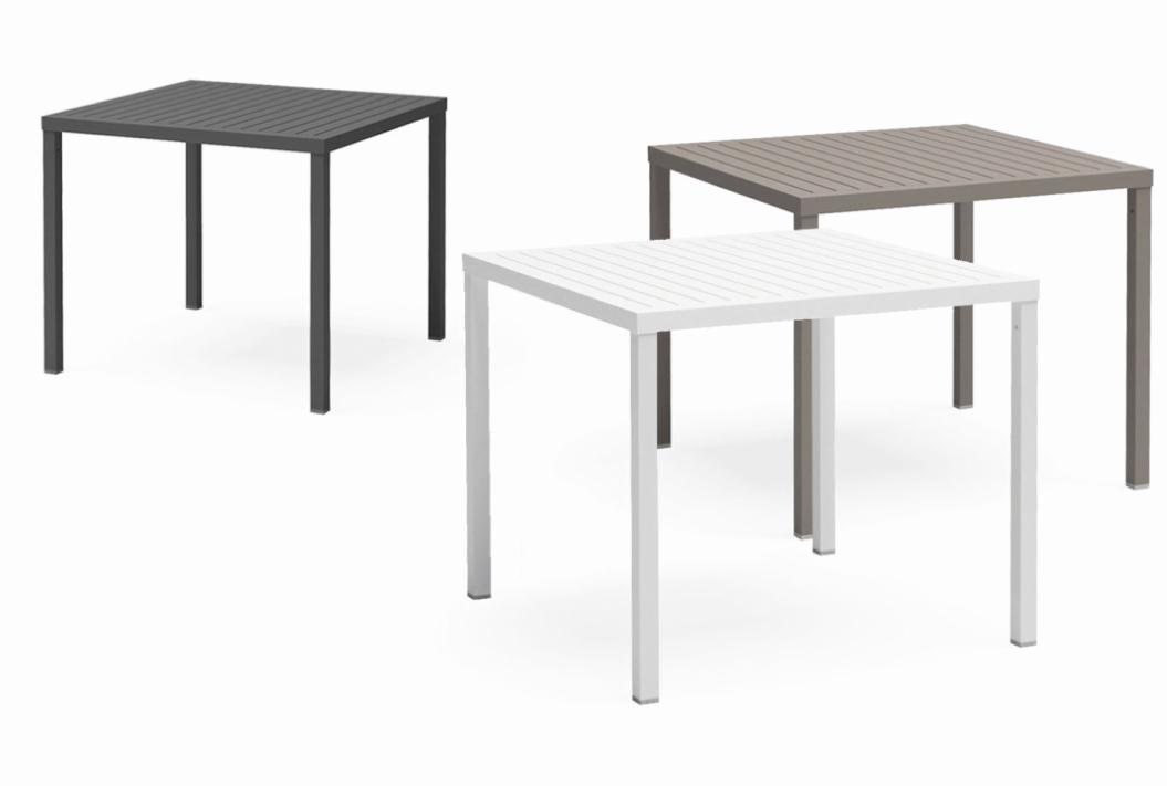 gartentisch nardi cube 80x80 wei esstisch kunststofftisch vom gartenm bel fachh ndler. Black Bedroom Furniture Sets. Home Design Ideas