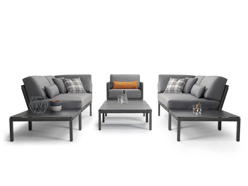 lounge element solpuri club mittelelement anthrazit aluminium vom gartenm bel fachh ndler. Black Bedroom Furniture Sets. Home Design Ideas