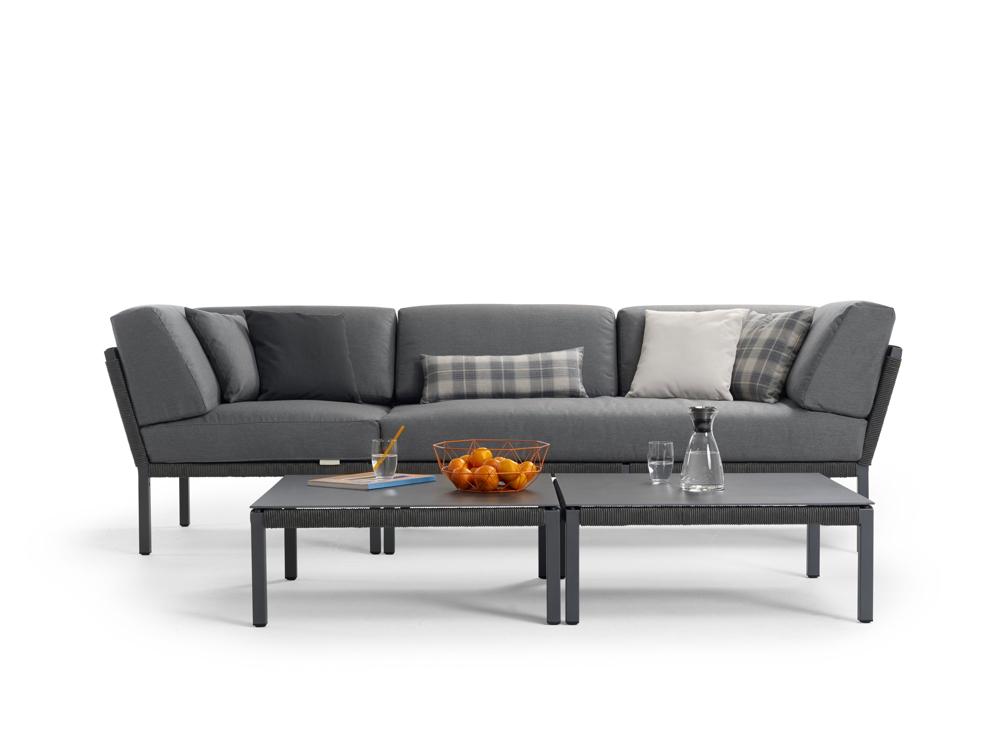 Sitzgruppe SOLPURI «CLUB Gartenmöbel Set 1» anthrazit, Aluminium ...
