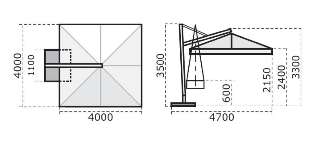 sonnenschirm scolaro galileo maxi 4x4 ampelschirm aluminium hanging parasol gartenm bel. Black Bedroom Furniture Sets. Home Design Ideas