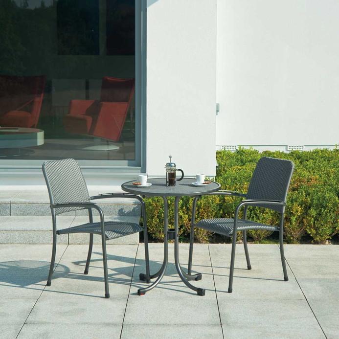 gartenstuhl alexander rose portofino stapelsessel rattan geflecht vom gartenm bel fachh ndler. Black Bedroom Furniture Sets. Home Design Ideas