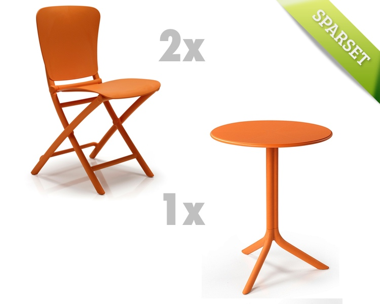 gartentisch nardi spritz 60 5cm orange bistrotisch. Black Bedroom Furniture Sets. Home Design Ideas