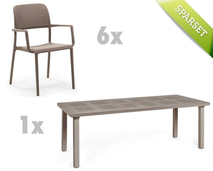 gartentisch nardi levante 160x100 taupe esstisch ausziehtisch gartenm bel onlineshop. Black Bedroom Furniture Sets. Home Design Ideas