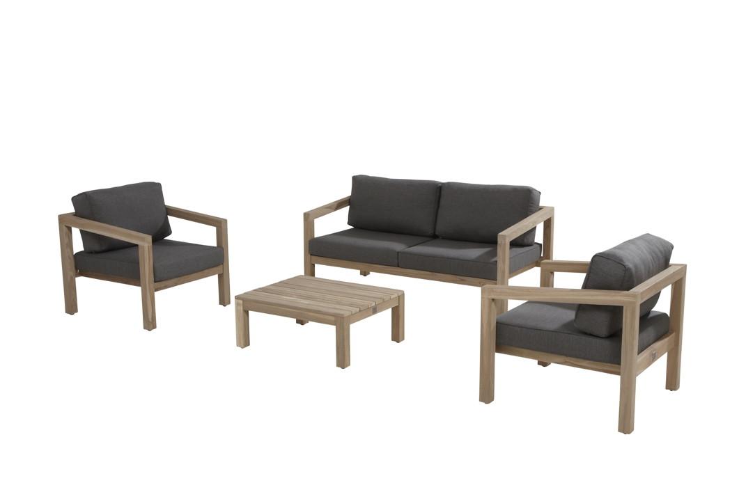 Sitzgruppe 4Seasons «EVORA» Gartenmöbelset, Lounge Teakholz Set 2 ...