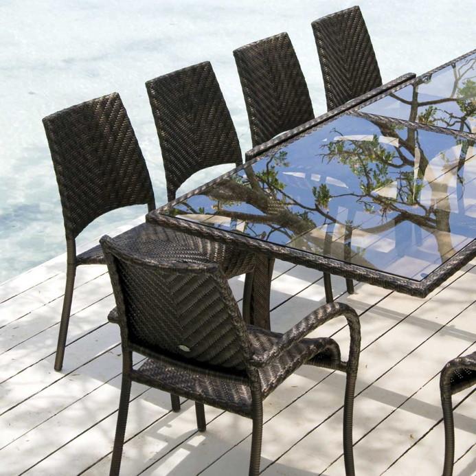 gartenstuhl alexander rose ocean fiji stapelstuhl korbstuhl rattan vom gartenm bel fachh ndler. Black Bedroom Furniture Sets. Home Design Ideas