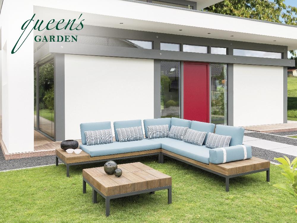 sitzgruppe queens garden combi lounge gartenm bel set 1 ebay. Black Bedroom Furniture Sets. Home Design Ideas
