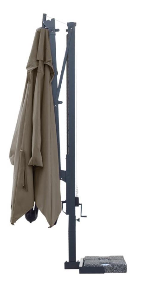 sonnenschirm scolaro galileo maxi 4x4 ampelschirm aluminium hanging parasol. Black Bedroom Furniture Sets. Home Design Ideas