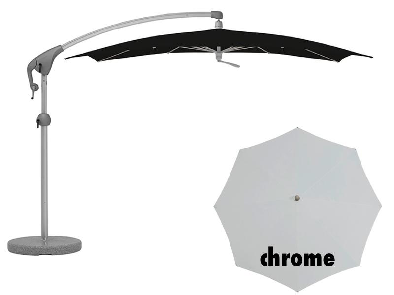 ampelschirm glatz sonnenschirm pendalex p 285x230 chrome sonnenschutz ebay. Black Bedroom Furniture Sets. Home Design Ideas