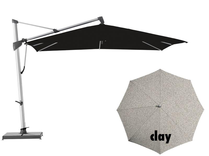 ampelschirm glatz sonnenschirm sombrano quadratisch clay. Black Bedroom Furniture Sets. Home Design Ideas