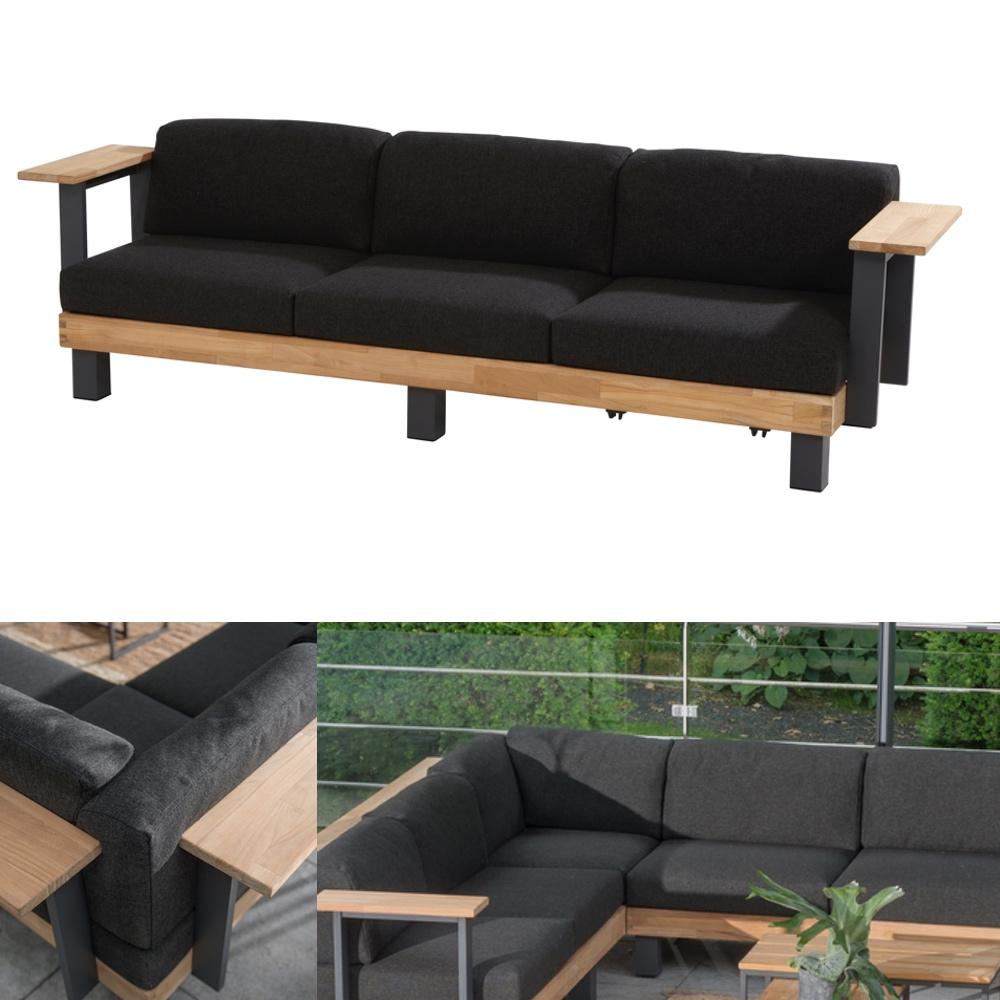 sofa baukasten im aus aluminium teak inklusive kissen amber von brhl bietet auf weich flche