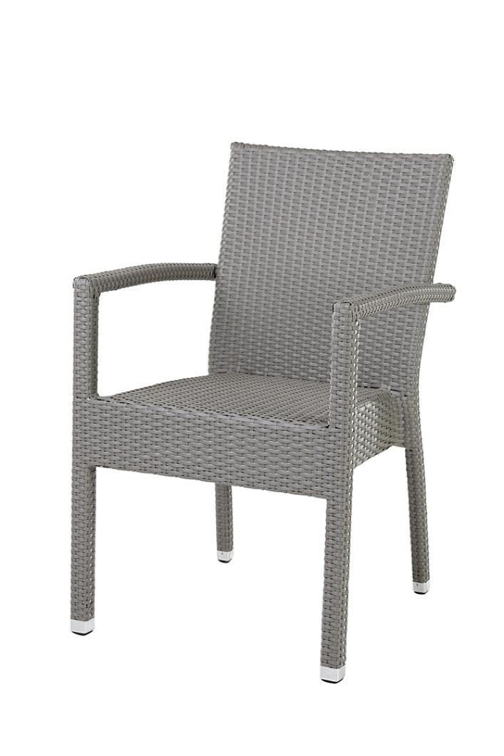 gartenstuhl diamond garden miami rattan stapelsessel grau geflecht ebay. Black Bedroom Furniture Sets. Home Design Ideas