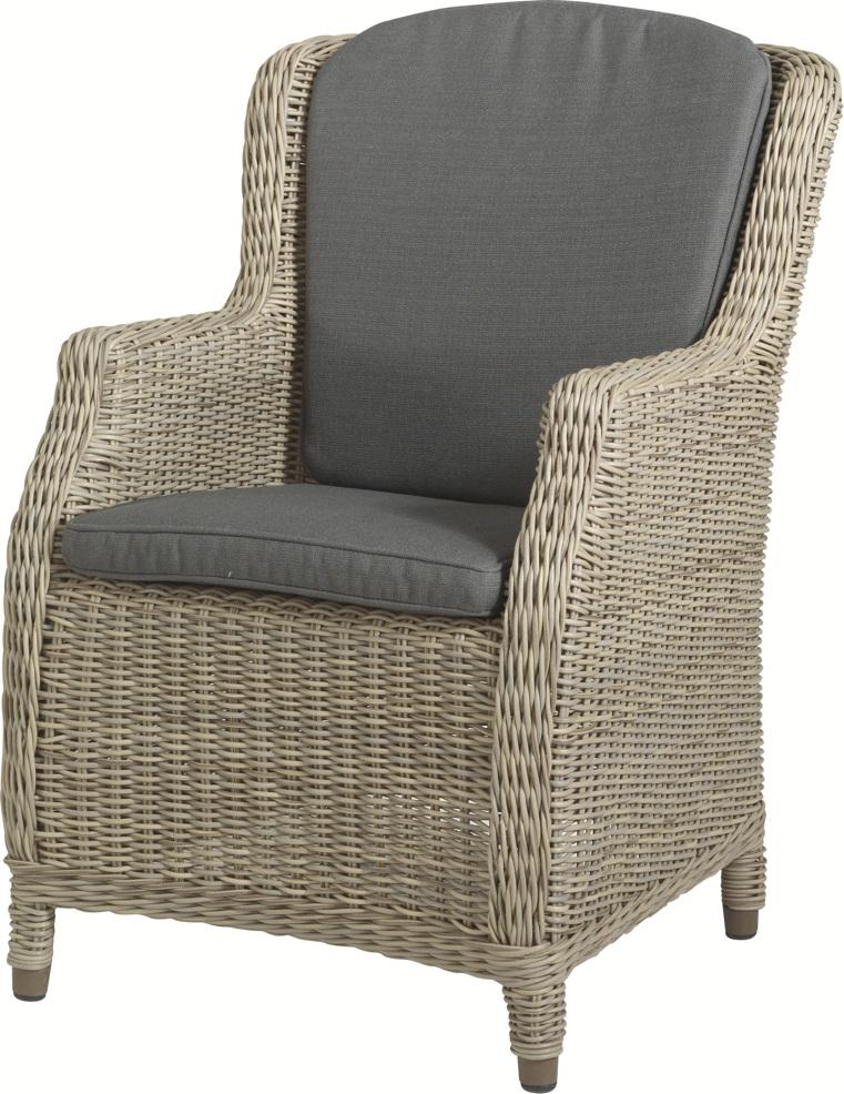 gartenstuhl 4seasons brighton pure sessel geflecht rattan mit kissen ebay. Black Bedroom Furniture Sets. Home Design Ideas