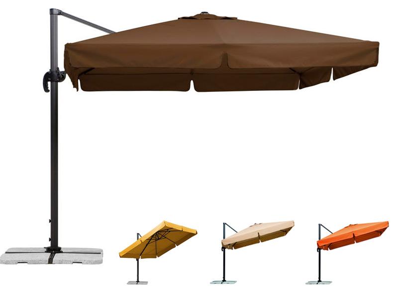sonnenschirm schneider rhodos 300x300cm ampelschirm aluminium hanging parasol ebay. Black Bedroom Furniture Sets. Home Design Ideas