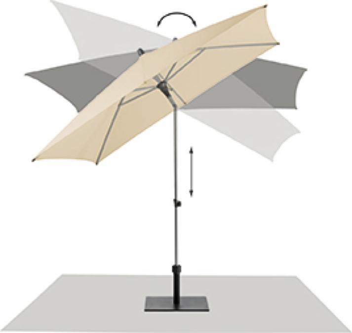 sonnenschirm glatz stockschirm alu push rund taupe sonnenschutz knickgelenk ebay. Black Bedroom Furniture Sets. Home Design Ideas