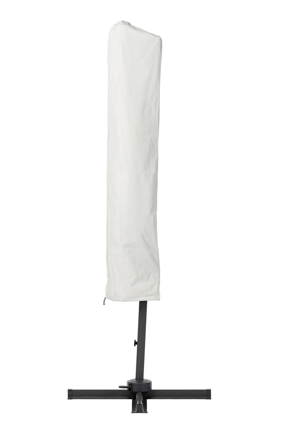 luxus sonnenschirm diamond garden juist 300 grau ampelschirm aluminium ebay. Black Bedroom Furniture Sets. Home Design Ideas