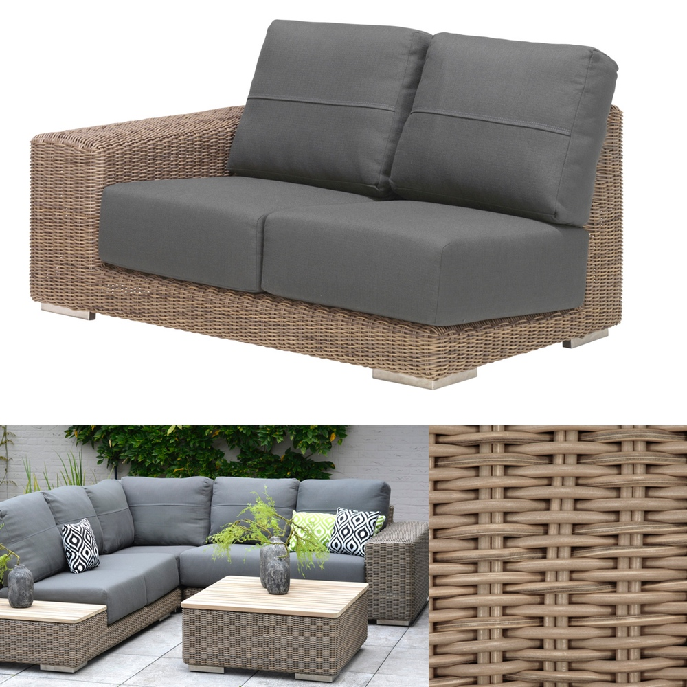 gartenbank 4seasons kingston pure 4er sofa korbcouch. Black Bedroom Furniture Sets. Home Design Ideas