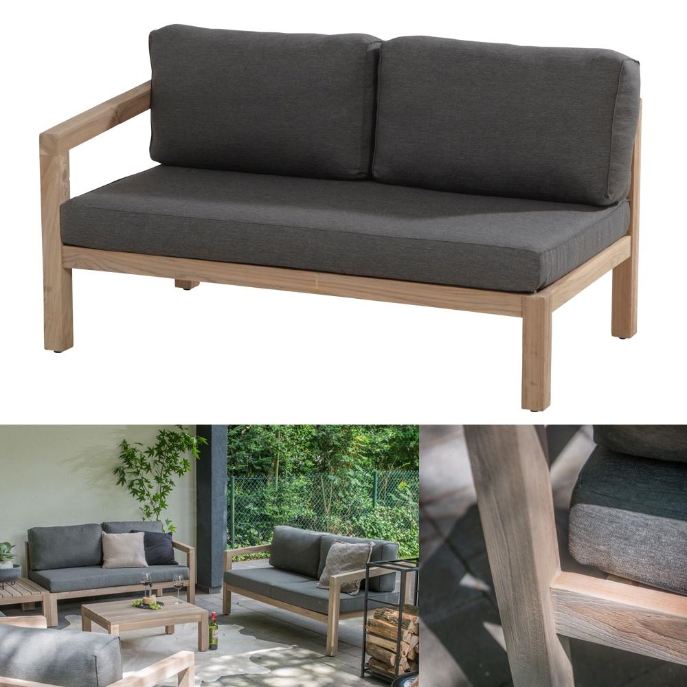 gartenbank 4seasons evora 2 er sofa armlehne rechts. Black Bedroom Furniture Sets. Home Design Ideas