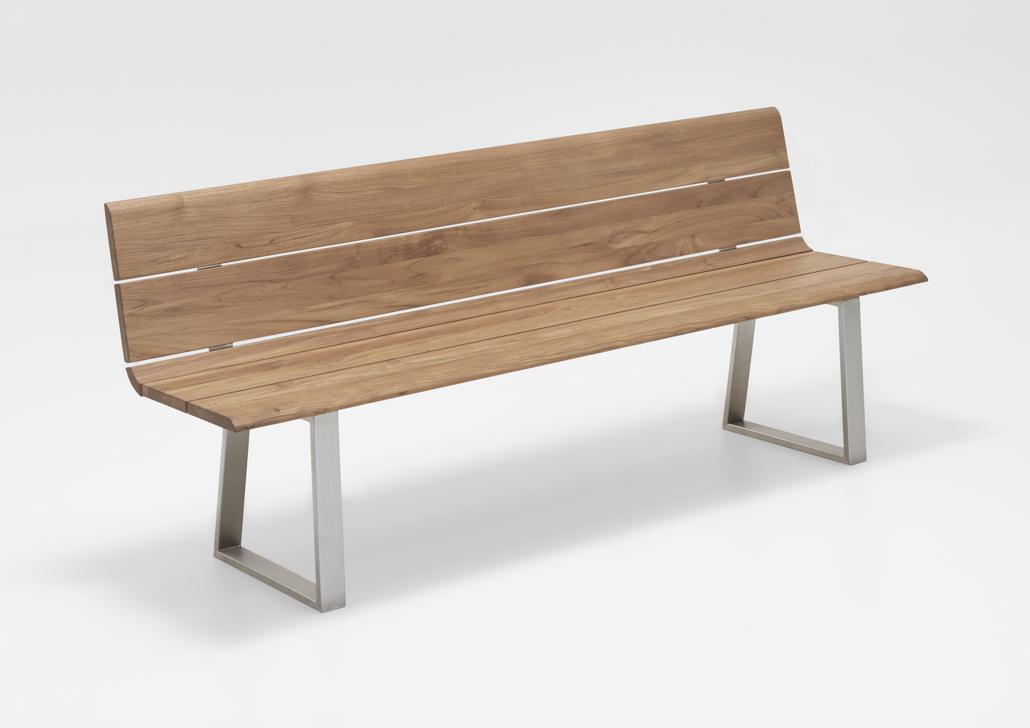 gartenbank niehoff nova bank 160cm mit r ckenlehne teak recycled holzbank vom gartenm bel. Black Bedroom Furniture Sets. Home Design Ideas