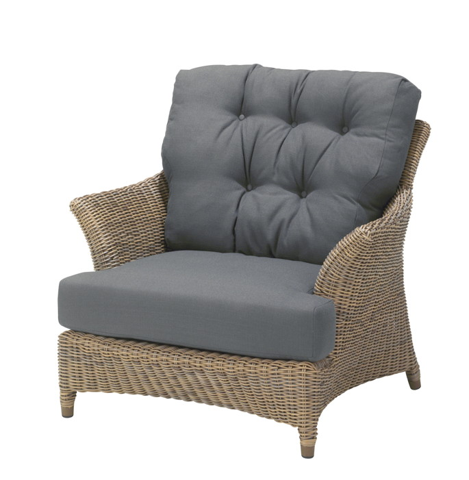 gartenstuhl 4seasons valentine pure loungesessel korbsessel rattan geflecht vom. Black Bedroom Furniture Sets. Home Design Ideas