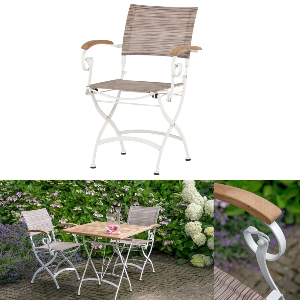 gartenstuhl 4seasons bellini wei biergartensessel biergartenstuhl teakholz gartenm bel. Black Bedroom Furniture Sets. Home Design Ideas