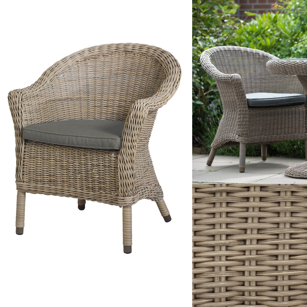 Gartenstuhl 4SEASONS «Chester PURE» Sessel Loungesessel Korbsessel