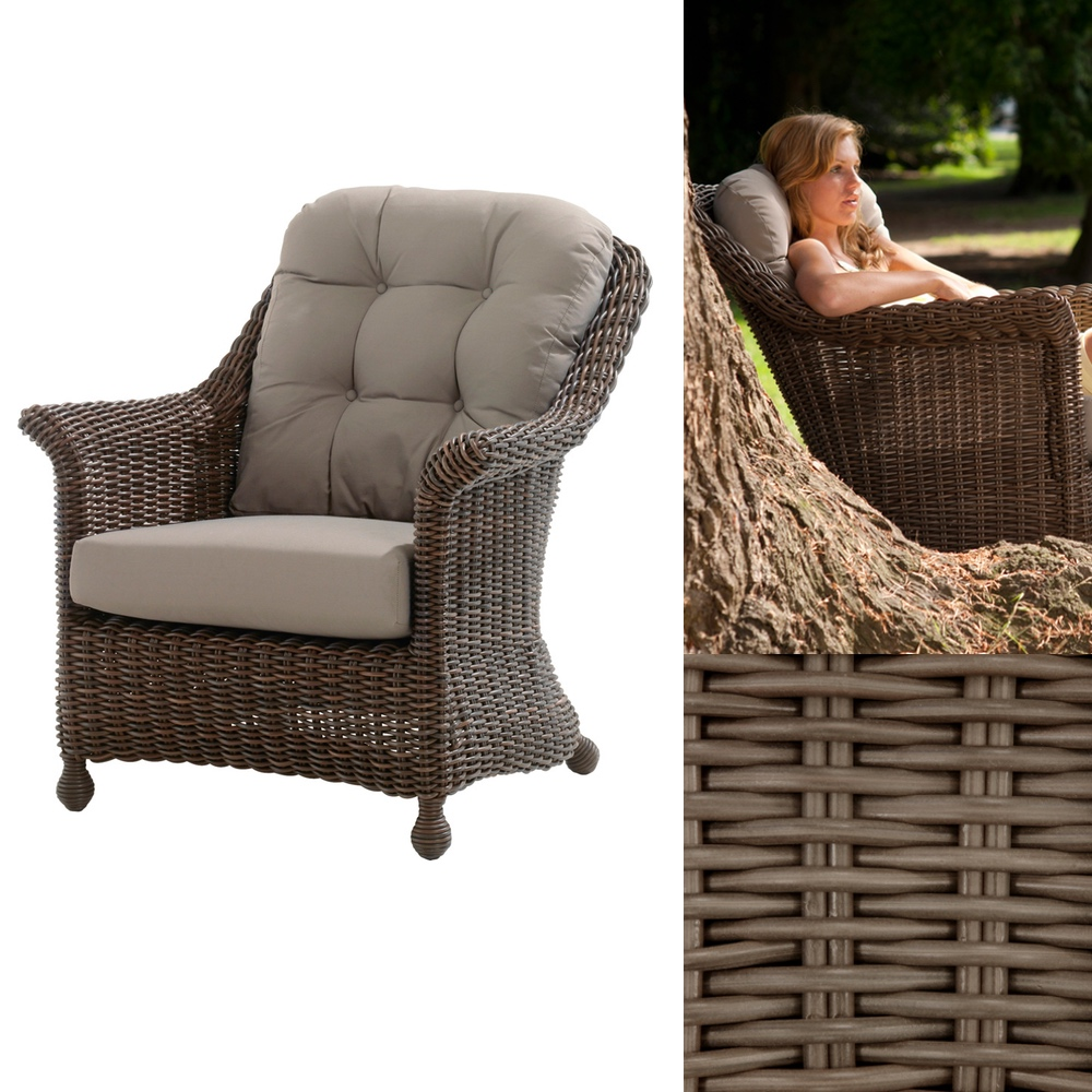 Polyrattan outdoor sitzgruppe 4seasons madoera lounge for Lounge sessel polyrattan