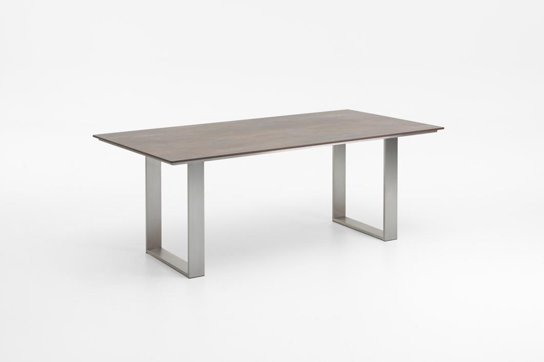 Gartentisch niehoff noah profilkufe esstisch 160x95 hpl for Esstisch grau braun