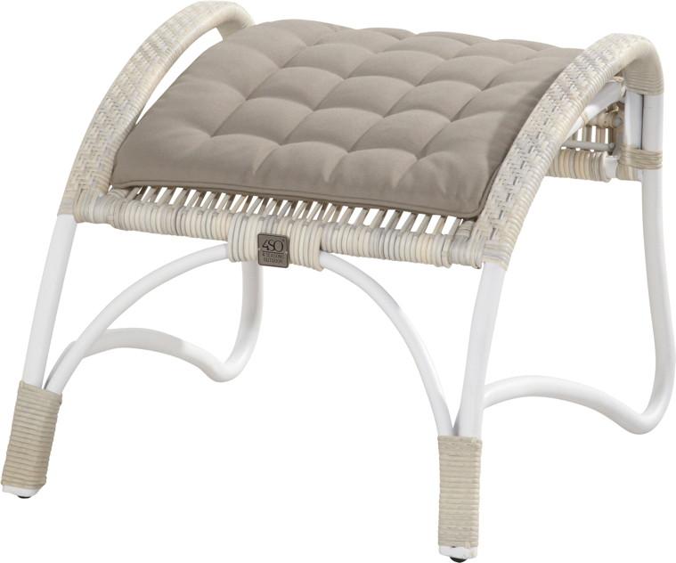 gartenstuhl olivia lounge sessel mit hocker set korbsessel geflecht ebay. Black Bedroom Furniture Sets. Home Design Ideas