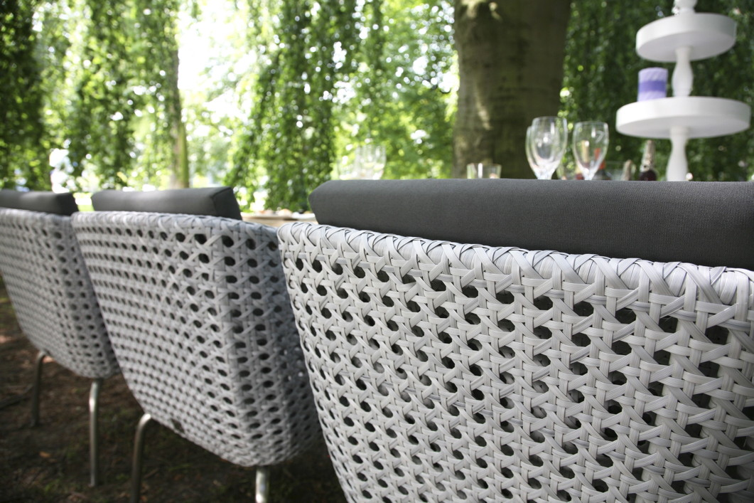 luxus polyrattan geflecht gartenstuhl luton sessel geflechtm bel diningchair ebay. Black Bedroom Furniture Sets. Home Design Ideas