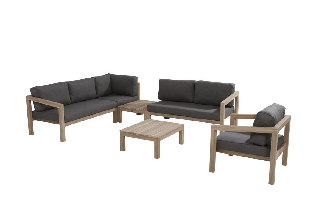 sitzgruppe 4seasons evora gartenm belset lounge teakholz set 1 vom gartenm bel fachh ndler. Black Bedroom Furniture Sets. Home Design Ideas