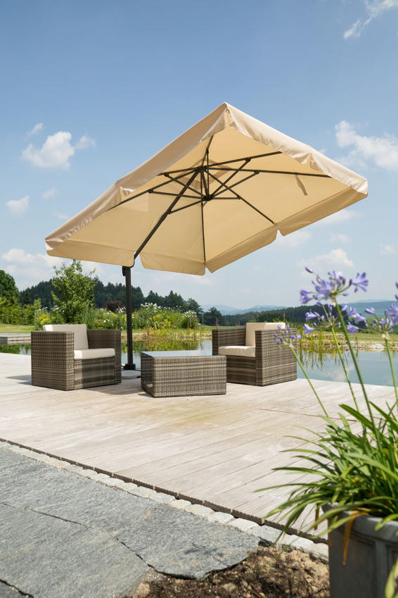 sonnenschirm schneider rhodos 300x300cm ampelschirm aluminium hanging parasol. Black Bedroom Furniture Sets. Home Design Ideas